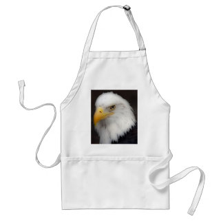 'American Bald Eagle in Portrait' Adult Apron
