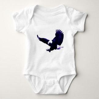 American Bald Eagle Landing Baby Bodysuit