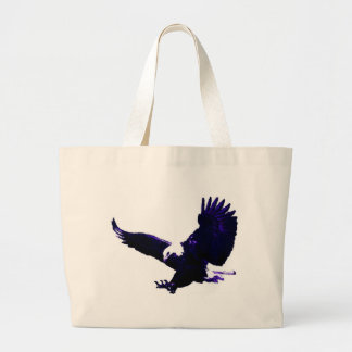 American Bald Eagle Landing Large Tote Bag
