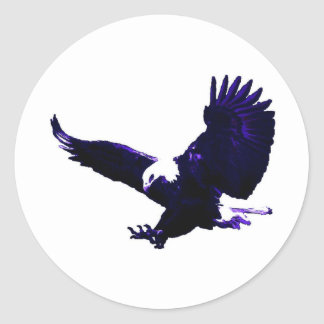 American Bald Eagle Landing Round Sticker