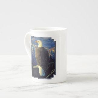 American Bald Eagle Mountain Sunrise Tea Cup