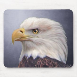 American Bald Eagle Painting Mouse Pad