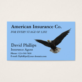 American Bald Eagle Patriotic Business Card