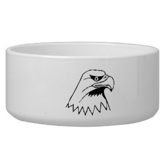American Bald Eagle Dog Water Bowl