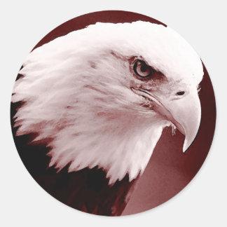 American Bald Eagle Portrait Stickers