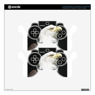American Bald Eagle Profile Decal For PS3 Controller