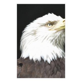 American Bald Eagle Profile Stationery