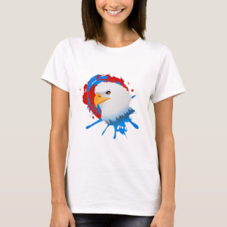 American Bald Eagle Red White & Blue Paint Spatter T-Shirt