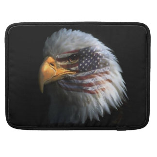American Bald Eagle Rickshaw Flap Sleeve Sleeves For MacBooks