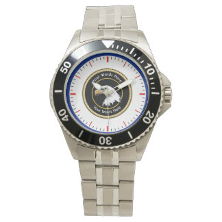 American Bald Eagle Rope Shield Wristwatches