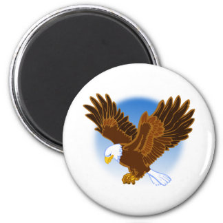 American Bald Eagle Spreading it's Wings 2 Inch Round Magnet