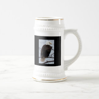 """American Bald Eagle Stein with """"God Bless the U.S. 18 Oz Beer Stein"""