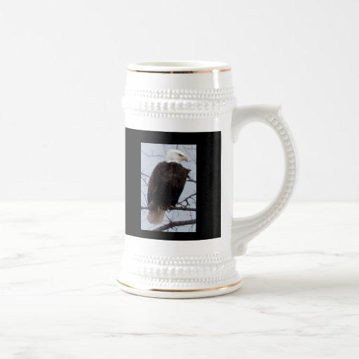 "American Bald Eagle Stein with ""God Bless the U.S. Coffee Mug"