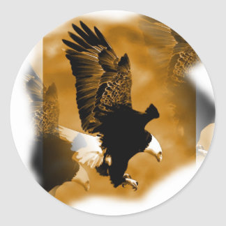 American Bald Eagle Round Stickers