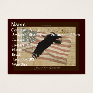 AMERICAN BALD EAGLE & US FLAG Biz Card