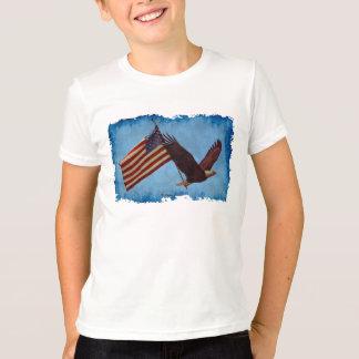AMERICAN BALD EAGLE & US FLAG Patriotic Shirt