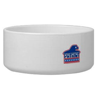 American Bald Eagle USA Flag Retro Bowl