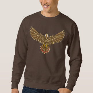 American Bald Eagle Wings Spread Pullover Sweatshirt