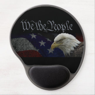 American Bald Eagle with Flag Gel Mouse Pad