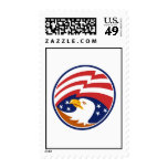 American Bald Eagle With Flag Stamp