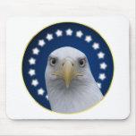 American Bald Eagle With Stars Mousepad