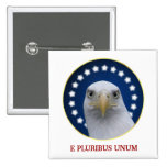 American Bald Eagle With Stars Pin