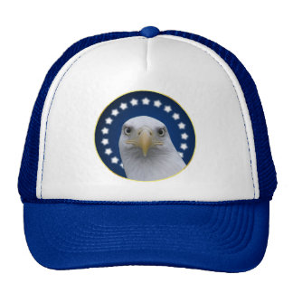 American Bald Eagle With Stars Trucker Hat