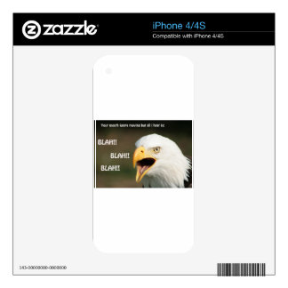 American Bald Eagle with Text iPhone 4 Skin