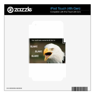 American Bald Eagle with Text iPod Touch 4G Skin
