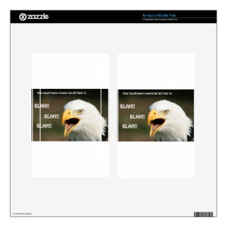 American Bald Eagle with Text Skin For Kindle Fire