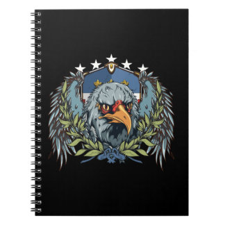 American Bald Eagle With Wings USA Colored Shield Note Book