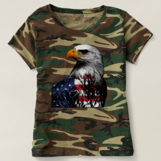 American Bald Eagle wrapped in the Flag of the USA T-shirt