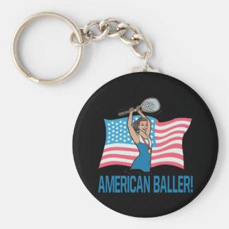 American Baller Keychain