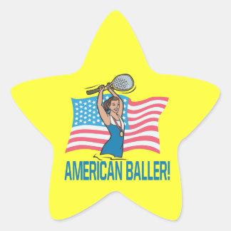 American Baller Star Sticker