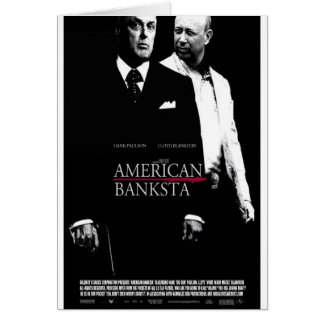 American Banksta Greeting Card