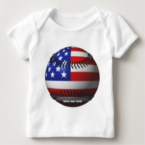 American Baseball Baby T_Shirt