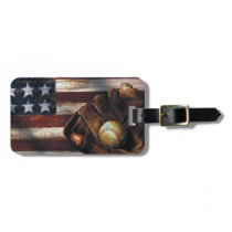 American Baseball Bag Tag