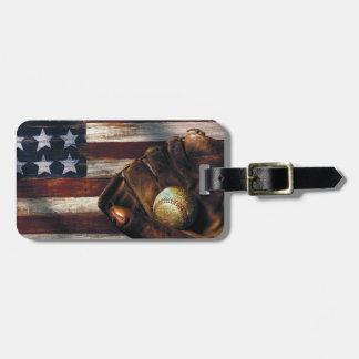 American Baseball Bag Tag