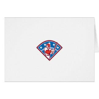 American Baseball Batter Hitter Bat Diamond Retro Greeting Cards