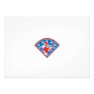 American Baseball Batter Hitter Bat Diamond Retro Custom Invites