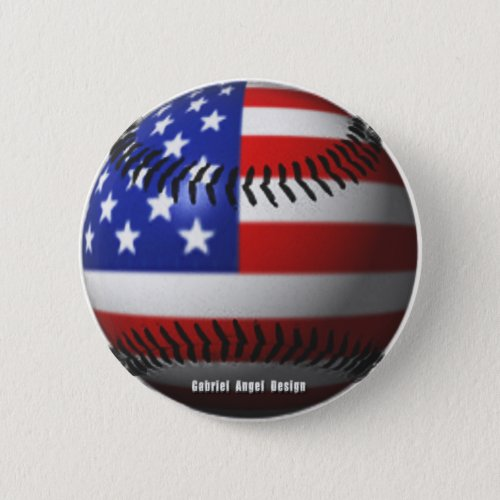 American Baseball Button