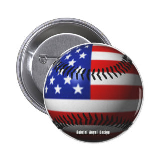 American Baseball Pinback Button