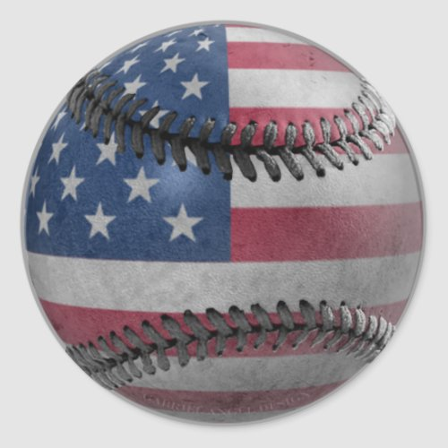 American Baseball Classic Round Sticker