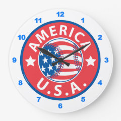 American Baseball Clock
