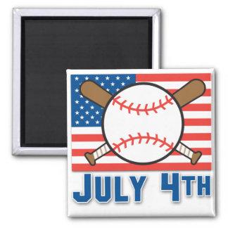 American Baseball Fridge Magnet