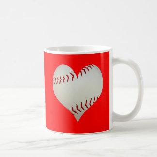 American Baseball In A Heart Shape Coffee Mugs