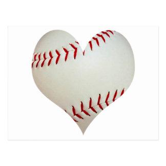 American Baseball In A Heart Shape Postcard