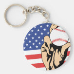 American Baseball Key Chains