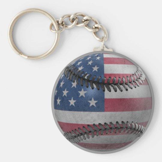 American Baseball Keychain