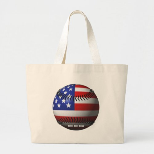 American Baseball Large Tote Bag